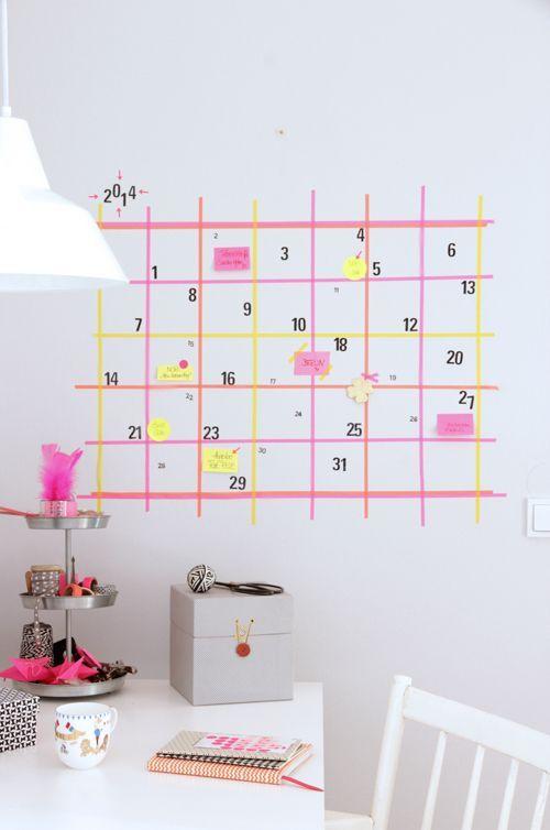 Calendario diy Washi Tape