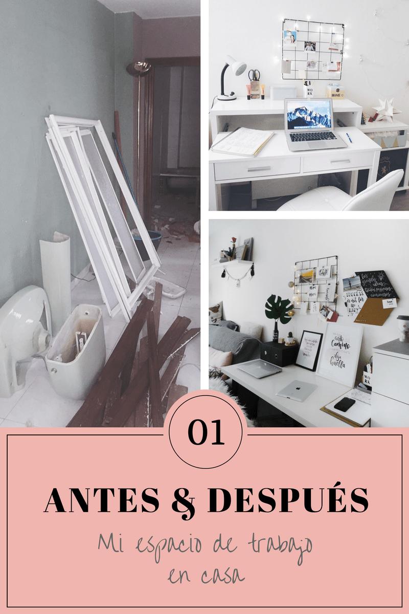 antes y despues escritorio